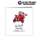 Card - Santa On Red Scooter