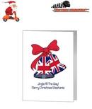 Card - Union Jack Christmas Bells