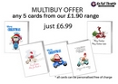 Christmas Cards - MULTIBUY OFFER on £1.90 range