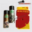 Standard Malossi Double Red Sponge Air Filter Service Kit - Piaggio Vespa ET4, GTS, GTV, MP3....