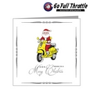 Card - Santa On Yellow Scooter