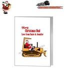 Card - Santa In JCB Digger