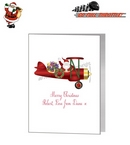Card - Cute Santa Riding A Plane