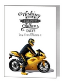 Father's Day Card - Yellow Motorbike
