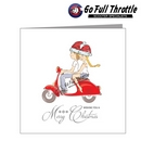 Card - Christmas Couple On Red Scooter