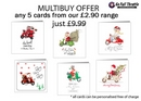 Christmas Cards - MULTIBUY OFFER on £2.90 range