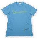 Vespa Logo Mens Pastel Blue T-Shirt  - 606229