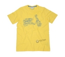 Vespa Scooter Shape Print Yellow T-Shirt  - 605874
