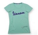 Vespa Logo Woman Green T-Shirt  - 606231