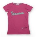 Vespa Logo Woman Pink T-Shirt  - 606231